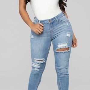 2/45 NEW Fashion Nova ICan'tTakeItAnymore GF Jeans